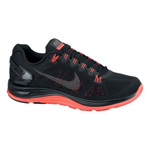 Womens Nike LunarGlide+ 5 Running Shoe - Black 7.5