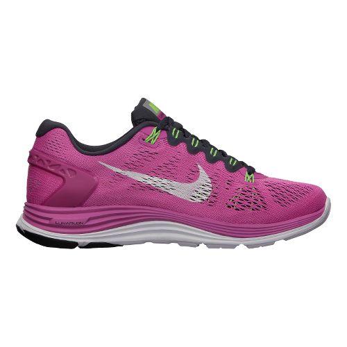 Womens Nike LunarGlide+ 5 Running Shoe - Dark Pink 9