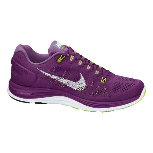 Womens Nike LunarGlide+ 5 Running Shoe - Grape 8.5