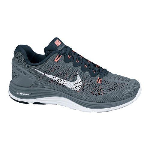 Womens Nike LunarGlide+ 5 Running Shoe - Grey/Navy 9.5