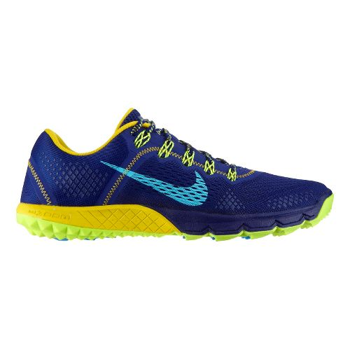 Mens Nike Zoom Terra Kiger Trail Running Shoe - Blue/Citron 9