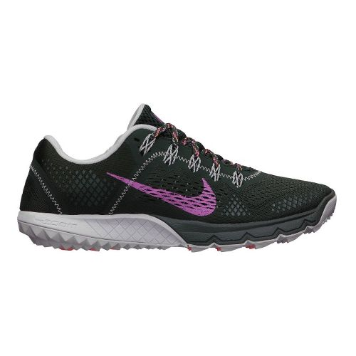 Womens Nike Zoom Terra Kiger Trail Running Shoe - Black/Dark Pink 7.5