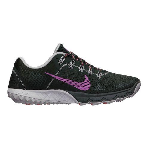 Womens Nike Zoom Terra Kiger Trail Running Shoe - Black/Dark Pink 8
