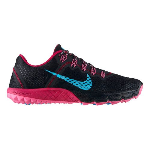Womens Nike Zoom Terra Kiger Trail Running Shoe - Black/Magenta 7