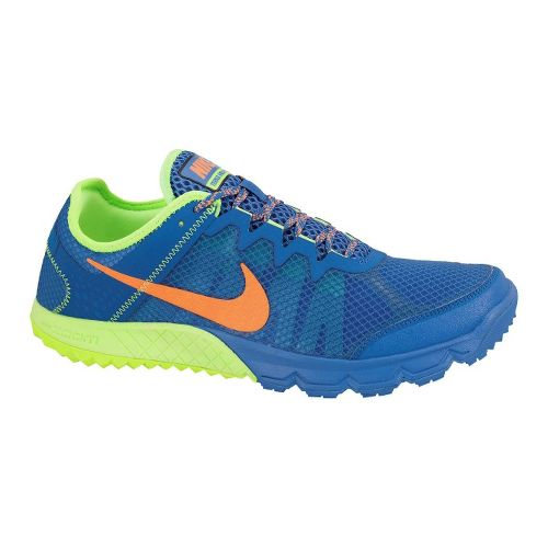 Mens Nike Zoom Terra Wildhorse Trail Running Shoe - Blue/Lime 9.5