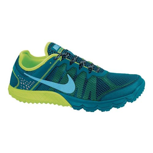 Mens Nike Zoom Terra Wildhorse Trail Running Shoe - Blue/Volt 12.5
