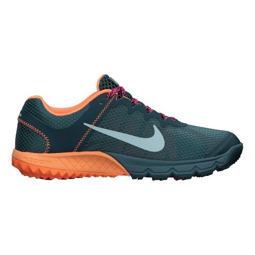 Womens Nike Zoom Terra Wildhorse Trail Running Shoe - Blue/Orange 7
