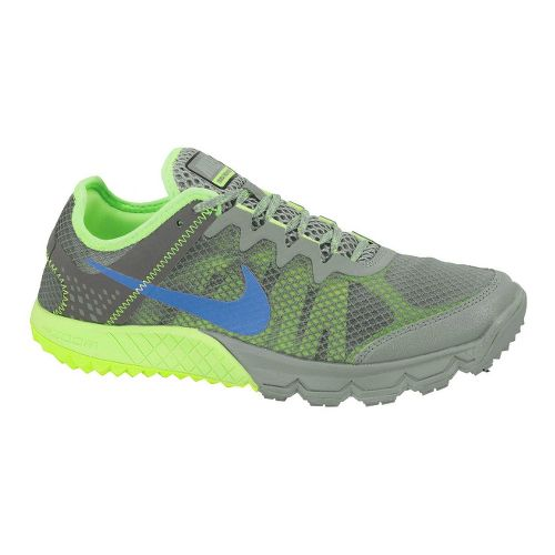 Womens Nike Zoom Terra Wildhorse Trail Running Shoe - Grey/Lime 7.5