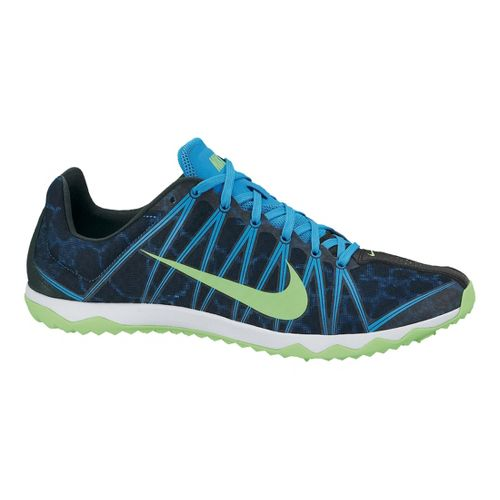Mens Nike Zoom Rival XC Cross Country Shoe - Blue/Lime 9.5