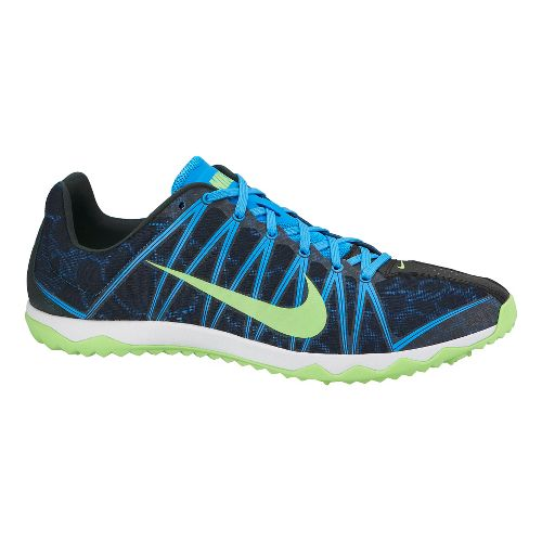 Mens Nike Zoom Rival Waffle Cross Country Shoe - Blue/Lime 10.5