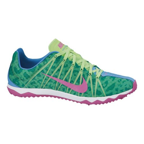 Womens Nike Zoom Rival Waffle Cross Country Shoe - Blue/Lime 7.5