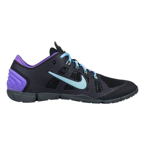 Womens Nike Free Bionic Cross Training Shoe - Black/Purple 10.5