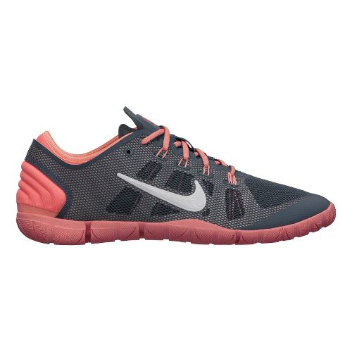 Womens Nike Free Bionic Cross Training Shoe - Grey/Atomic Pink 8.5