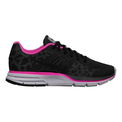 Womens Nike Air Pegasus+ 30 Shield Running Shoe - Black/Cheebra 7