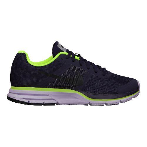 Womens Nike Air Pegasus+ 30 Shield Running Shoe - Purple/Cheebra 10