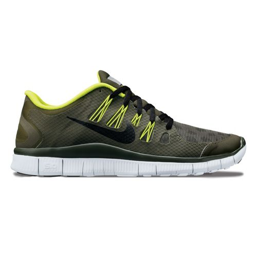 Mens Nike Free 5.0+ Shield Running Shoe - Loden/Cheebra 9