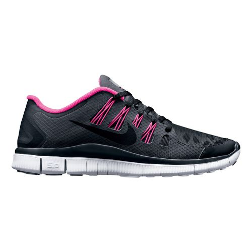 Womens Nike Free 5.0+ Shield Running Shoe - Black/Cheebra 6