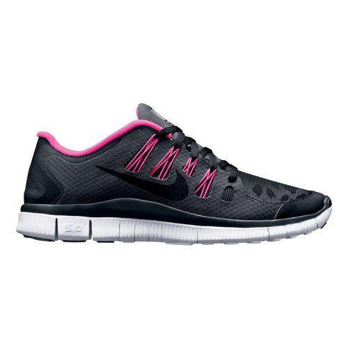 Womens Nike Free 5.0+ Shield Running Shoe - Black/Cheebra 7.5
