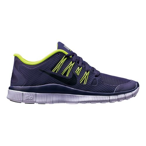 Womens Nike Free 5.0+ Shield Running Shoe - Purple/Cheebra 7