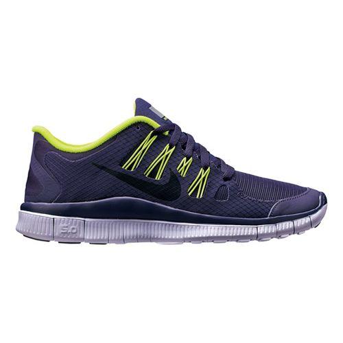 Womens Nike Free 5.0+ Shield Running Shoe - Purple/Cheebra 9.5