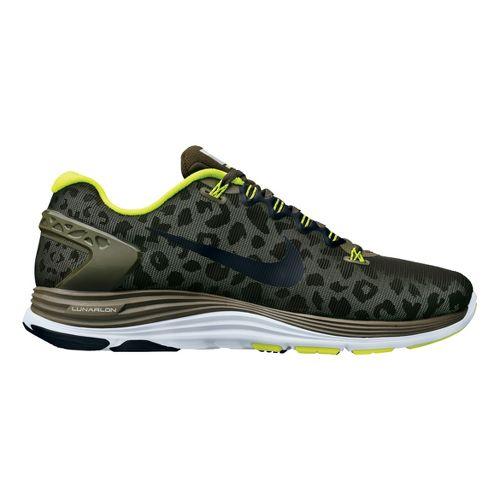 Mens Nike LunarGlide+ 5 Shield Running Shoe - Loden/Cheebra 11.5