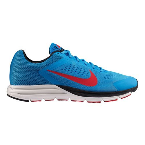 Mens Nike Air Zoom Structure+ 17 Running Shoe - Blue/Red 11.5