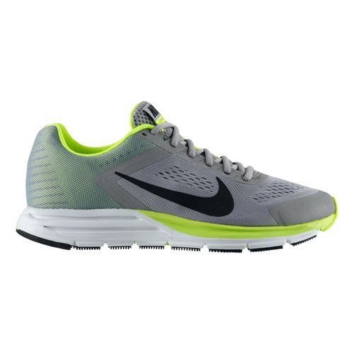 Mens Nike Air Zoom Structure+ 17 Running Shoe - Silver/Volt 12