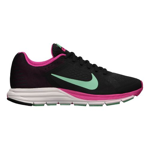 Womens Nike Air Zoom Structure+ 17 Running Shoe - Charcoal/Pink 12