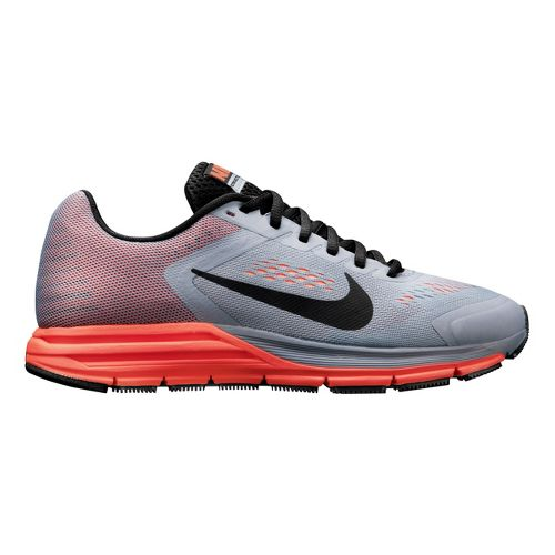 Womens Nike Air Zoom Structure+ 17 Running Shoe - Grey/Mango 8.5