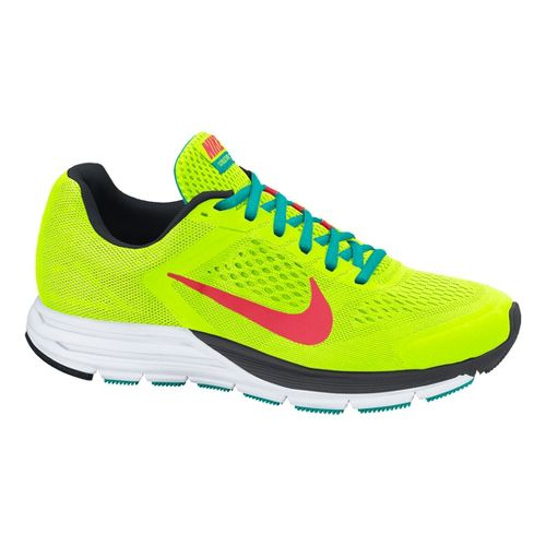 Womens Nike Air Zoom Structure+ 17 Running Shoe - Volt 7
