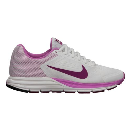Womens Nike Air Zoom Structure+ 17 Running Shoe - White/Pink 6.5
