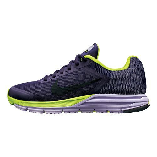 Womens Nike Zoom Structure+ 17 Shield Running Shoe - Purple/Cheebra 6