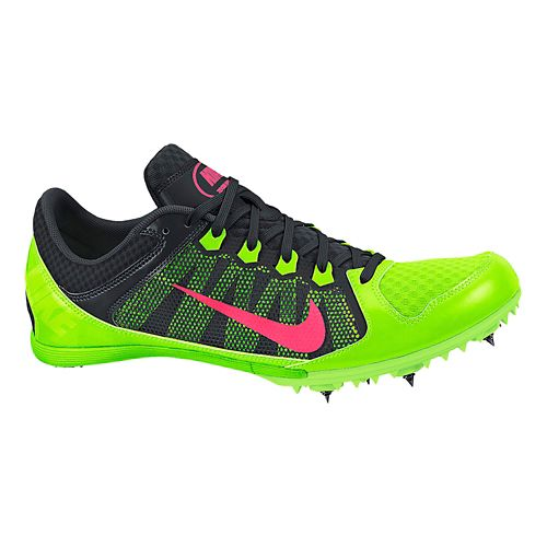 Mens Nike Zoom Rival MD 7 Track and Field Shoe - Black/Green 7.5