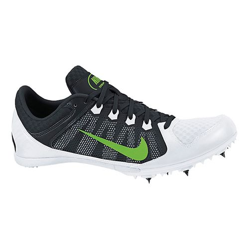 Mens Nike Zoom Rival MD 7 Track and Field Shoe - White/Black 9