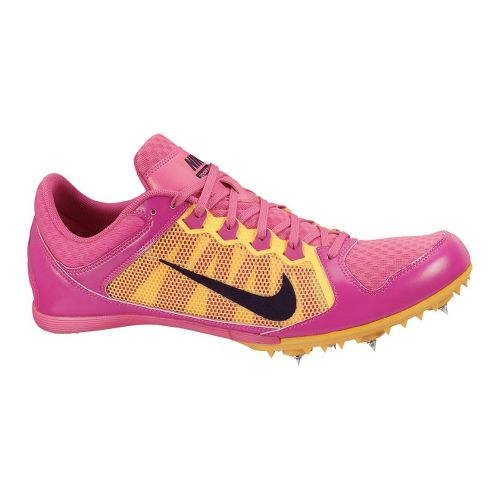 Womens Nike Zoom Rival MD 7 Track and Field Shoe - Raspberry/Yellow 7.5
