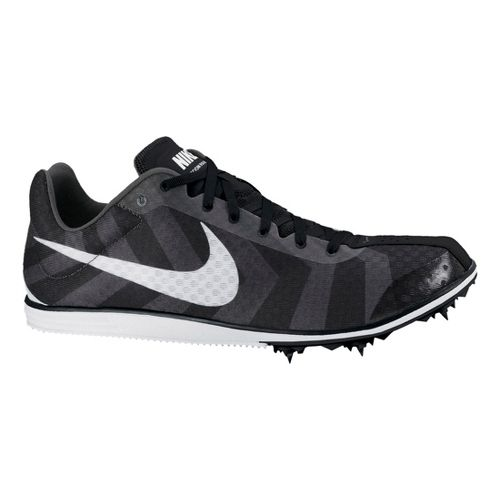 Mens Nike Zoom Rival D 8 Track and Field Shoe - Black/White 10
