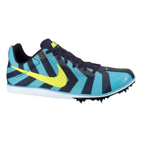 Mens Nike Zoom Rival D 8 Track and Field Shoe - Blue/Volt 11.5