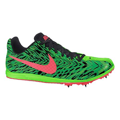 Mens Nike Zoom Rival D 8 Track and Field Shoe - Green/Black 12.5