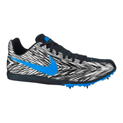 Mens Nike Zoom Rival D 8 Track and Field Shoe - White/Black 10