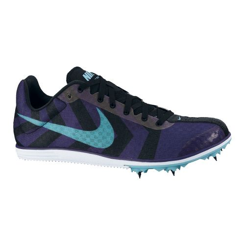 Womens Nike Zoom Rival D 8 Track and Field Shoe - Purple/Blue 5