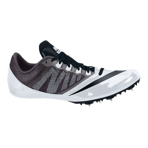 Mens Nike Zoom Rival S 7 Track and Field Shoe - Black/White 9