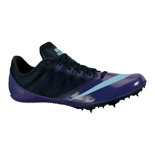 Womens Nike Zoom Rival S 7 Track and Field Shoe - Purple/Black 5