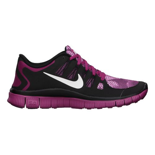 Womens Nike Free 5.0+ PRM Running Shoe - Pink/Black 11