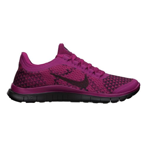 Womens Nike Free 3.0 v5 PRM Running Shoe - Pink/Black 11