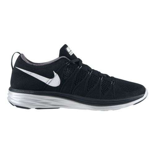 Mens Nike Flyknit Lunar2 Running Shoe - Black/Grey 11.5