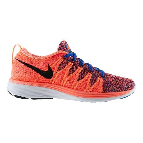 Womens Nike Flyknit Lunar2 Running Shoe - Mango 8.5