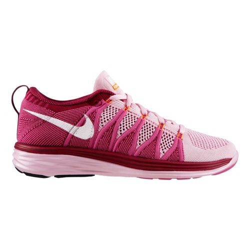Womens Nike Flyknit Lunar2 Running Shoe - Purple 10.5
