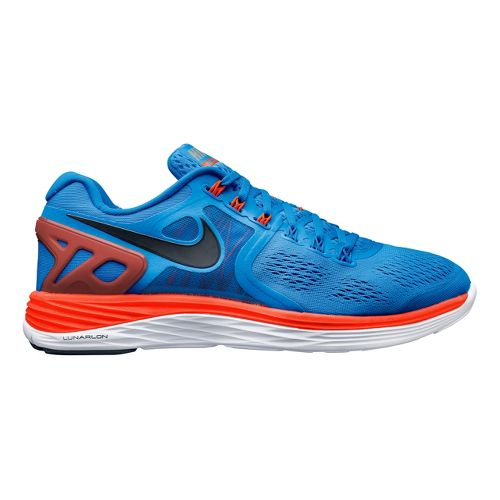 Mens Nike LunarEclipse 4 Running Shoe - Blue/Orange 12.5