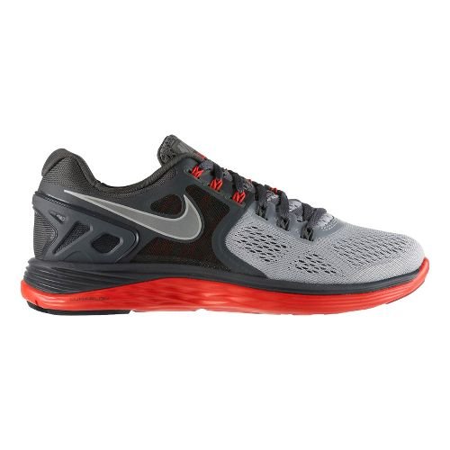 Mens Nike LunarEclipse 4 Running Shoe - Grey/Red 11.5