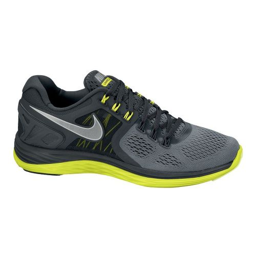 Mens Nike LunarEclipse 4 Running Shoe - Grey/Volt 9
